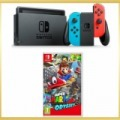 Nintendo Switch konzol, neon red&blue Joy-Con+Super Mario Odyssey